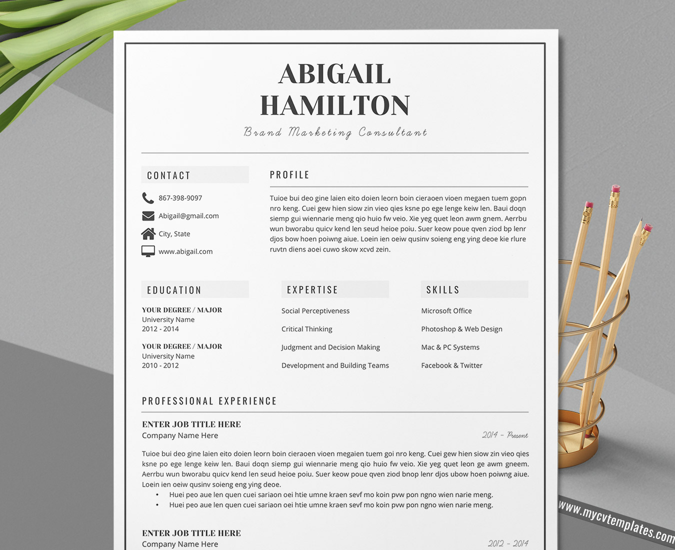 2020 beautiful and elegant cv templates and cover letter
