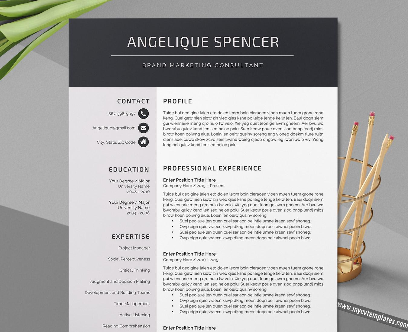 CV Template, Curriculum Vitae, Modern CV Format Design, Simple Resume  Template, Professional Resume Template, Creative Resume Format, 300 30 Page  Resume, ...